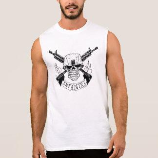 T-shirt Sans Manches Crâne militaire d'infanterie