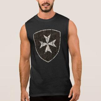 T-shirt Sans Manches Croix de Hospitaller de chevaliers, affligée