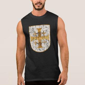 T-shirt Sans Manches Croix de Jérusalem, affligée