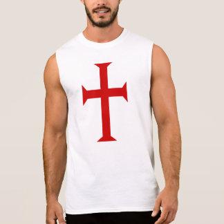 T-shirt Sans Manches Croix de Templar de chevalier
