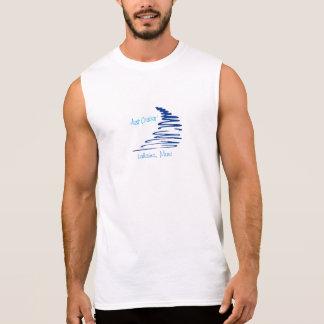 T-shirt Sans Manches Cruisin'_ pas droit Lahaina, Maui de Lines_Just