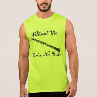 T-shirt Sans Manches De clarinette des hommes pièce en t sans manche du
