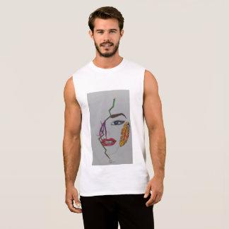 T-shirt Sans Manches débardeur. un d'une sorte. vérifiez-la