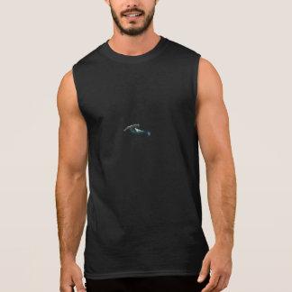 T-shirt Sans Manches Dessus de réservoir des hommes de requin de