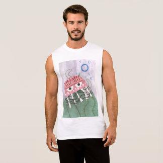 T-shirt Sans Manches Dessus du gilet des hommes de peigne de méduses