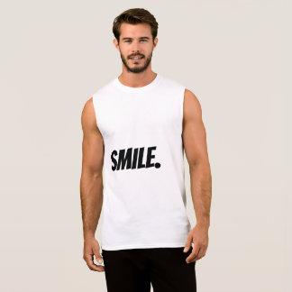 T-shirt Sans Manches Dessus SAISI de sourire