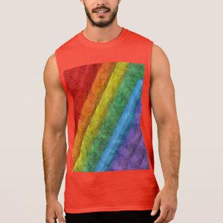 T-shirt Sans Manches Drapeau de gay pride de mosaïque d'arc-en-ciel
