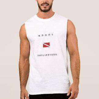 T-shirt Sans Manches Drapeau de piqué de scaphandre de Bohol