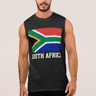 T-shirt Sans Manches Drapeau du monde de l'Afrique du Sud