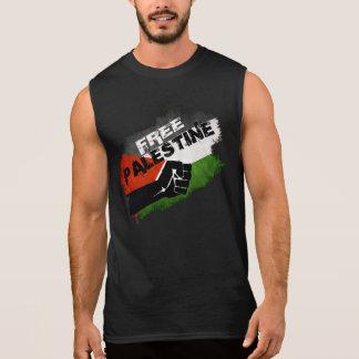 T-shirt Sans Manches Drapeau libre de grunge de la Palestine
