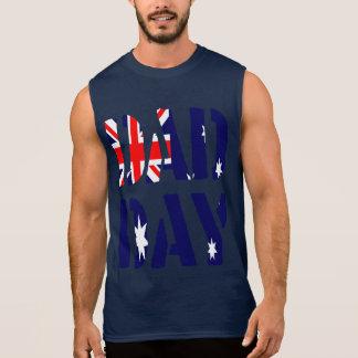 T-shirt Sans Manches Fête des pères heureuse de l'Australie de JOUR de
