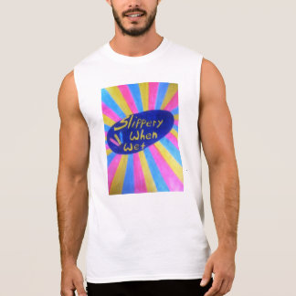 T-shirt Sans Manches Glissant quand chemise humide