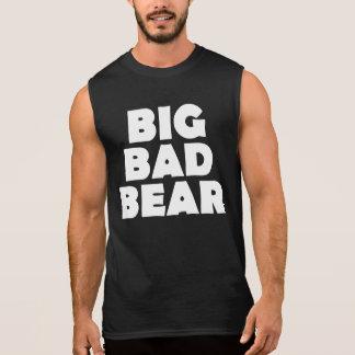 T-shirt Sans Manches Grand mauvais dos de patte d'ours blanc d'ours