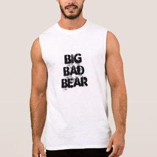 T-shirt Sans Manches Grande mauvaise police de grunge d'ours