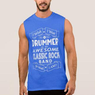 T-shirt Sans Manches Groupe de rock classique impressionnant de BATTEUR