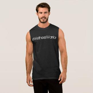 T-shirt Sans Manches Hommes de réservoir de guerrier de #Wellness noirs