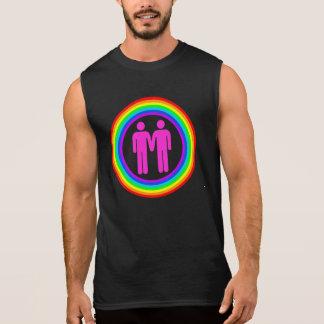 T-shirt Sans Manches Hommes gais de couples d'arc-en-ciel