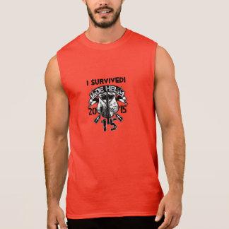 T-shirt Sans Manches J'ai survécu à l'entraînement militaire de la