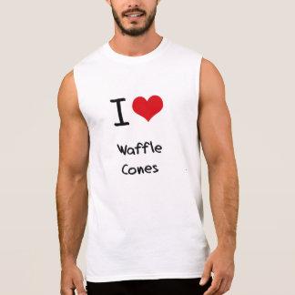 T-shirt Sans Manches J'aime des cônes de gaufre