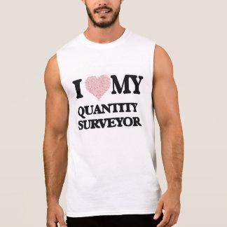T-shirt Sans Manches J'aime mon métreur vérificateur (coeur fait à