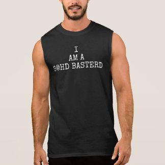 T-shirt Sans Manches JE SUIS la pièce en t sans manche des hommes d'A