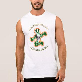 T-shirt Sans Manches Jour de la Saint Patrick drôle personnalisé buvant