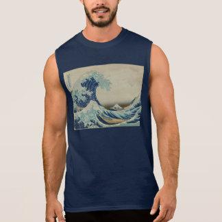 T-shirt Sans Manches Katsushika Hokusai : La grande vague chez Kanagawa