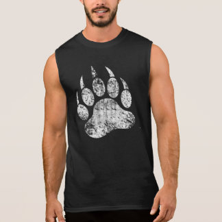 T-shirt Sans Manches La fierté gaie d'ours a affligé la patte d'ours