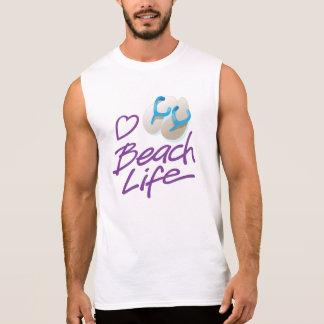 T-shirt Sans Manches La vie graphique T sans manche de plage de