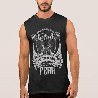 T-shirt Sans Manches Laissez-les craindre le singulet