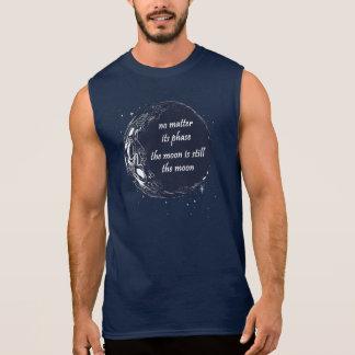 T-shirt Sans Manches L'astronomie de phase de lune tient le premier