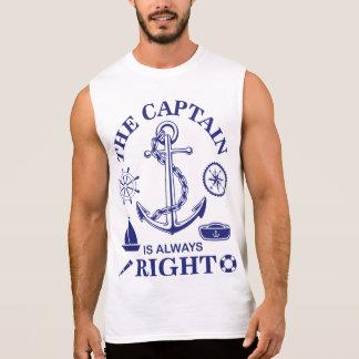 T-shirt Sans Manches Le capitaine est toujours - capitaine Funny -