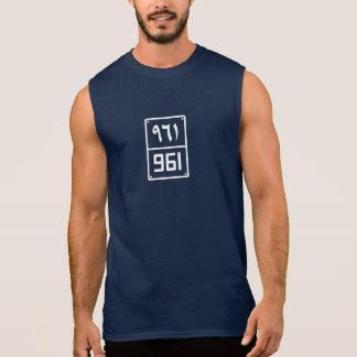 T-shirt Sans Manches Le chiffre #961 de Beyrouth sans manche pour les
