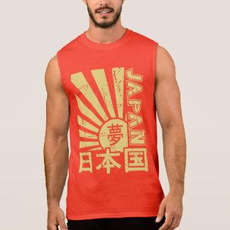 """T-shirt Sans Manches Le """"Japon"""" vintage Soleil Levant avec des"""