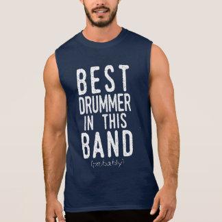T-shirt Sans Manches Le meilleur batteur (probablement) (blanc)