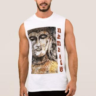 T-shirt Sans Manches Le réservoir des hommes d'art de Namaste Bouddha