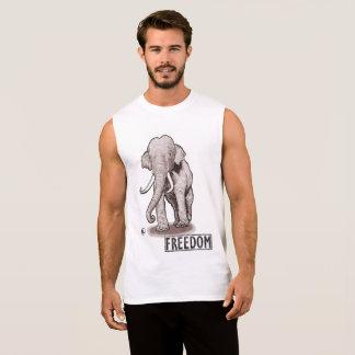 """T-shirt Sans Manches Le réservoir des hommes d'éléphant de """"liberté"""""""