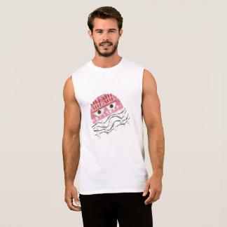 T-shirt Sans Manches Les méduses peignent le dessus du gilet d'aucuns
