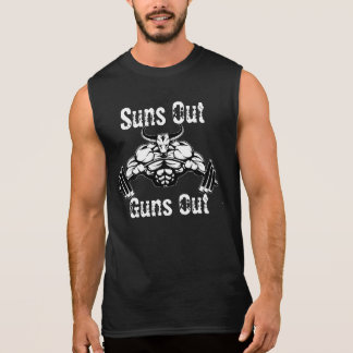 T-shirt Sans Manches Les soleils lance la chemise de muscle