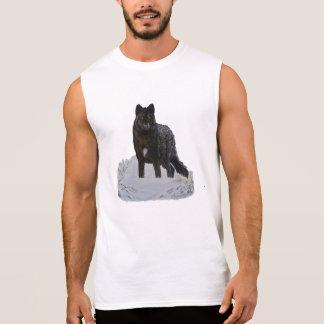 T-shirt Sans Manches Loup noir