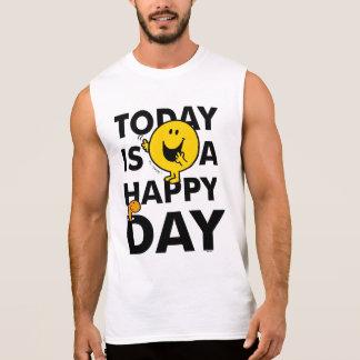 T-shirt Sans Manches M. Happy   est aujourd'hui un jour heureux