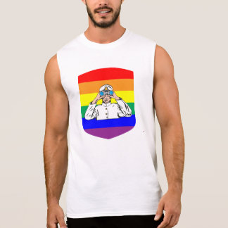 T-shirt Sans Manches Marin d'arc-en-ciel