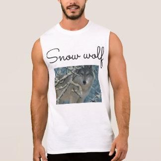 T-shirt Sans Manches merch de youtube de loup de neige