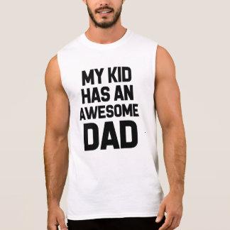 T-shirt Sans Manches Mon enfant a une chemise drôle de papa