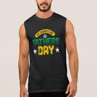 T-shirt Sans Manches Mon jour préféré est fête des pères