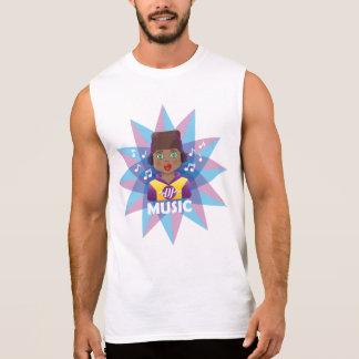 T-shirt Sans Manches Musique Remixer du DJ