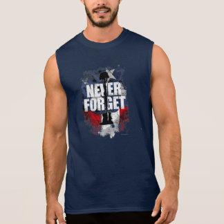 T-shirt Sans Manches N'oubliez jamais (le Jour du Souvenir)