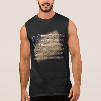 T-shirt Sans Manches Nous la chemise sans manche de drapeau vintage des