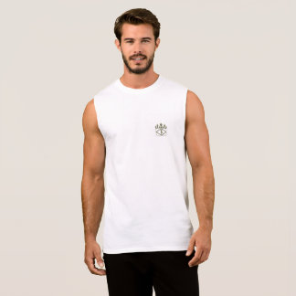 T-shirt Sans Manches Or royal