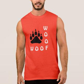 T-shirt Sans Manches Ours gai de Woof de double de patte d'ours noir